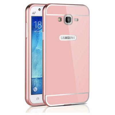 Microsonic Samsung Galaxy J5 Kılıf Luxury Mirror Rose Gold Cep Telefonu Kılıfı