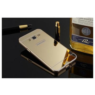 Microsonic Samsung Galaxy J5 Kılıf Luxury Mirror Gold Cep Telefonu Kılıfı