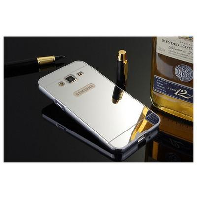 Microsonic Samsung Galaxy J5 Kılıf Luxury Mirror Gümüş Cep Telefonu Kılıfı