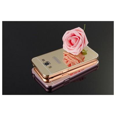 Microsonic Samsung Galaxy J7 Kılıf Luxury Mirror Rose Gold Cep Telefonu Kılıfı