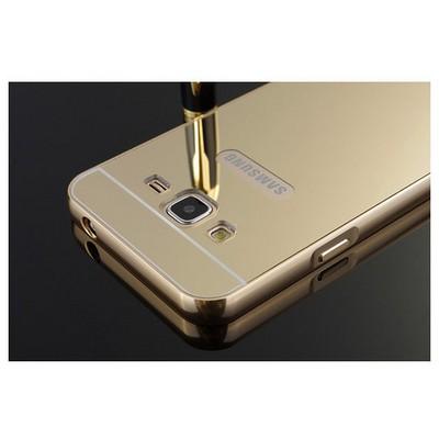 Microsonic Samsung Galaxy J7 Kılıf Luxury Mirror Gold Cep Telefonu Kılıfı