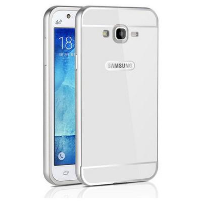 Microsonic Samsung Galaxy J7 Kılıf Luxury Mirror Gümüş Cep Telefonu Kılıfı
