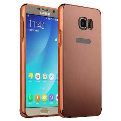 Microsonic Samsung Galaxy Note 5 Kılıf Luxury Mirror Rose Gold Cep Telefonu Kılıfı