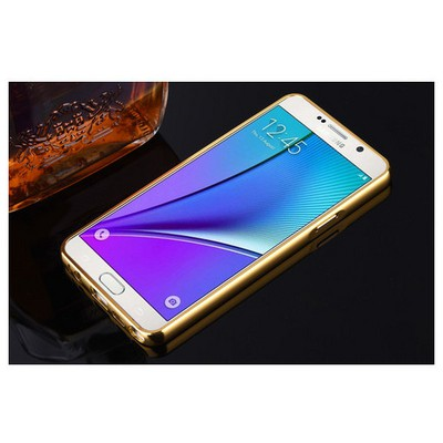 Microsonic Samsung Galaxy Note 5 Kılıf Luxury Mirror Gold Cep Telefonu Kılıfı