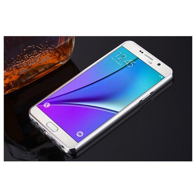Microsonic Samsung Galaxy Note 5 Kılıf Luxury Mirror Gümüş Cep Telefonu Kılıfı