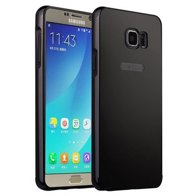Microsonic Samsung Galaxy Note 5 Kılıf Luxury Mirror Siyah Cep Telefonu Kılıfı