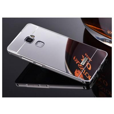 Microsonic Huawei Ascend Mate S Kılıf Luxury Mirror Gümüş Cep Telefonu Kılıfı