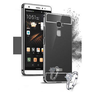 Microsonic Huawei Ascend Mate S Kılıf Luxury Mirror Siyah Cep Telefonu Kılıfı
