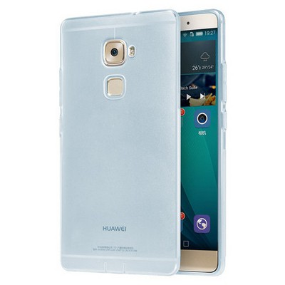 Microsonic Huawei Mate S Kılıf Transparent Soft Mavi Cep Telefonu Kılıfı