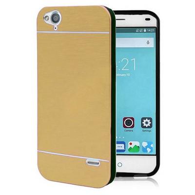 Microsonic Türkcell T60 Kılıf Hybrid Metal Gold Cep Telefonu Kılıfı
