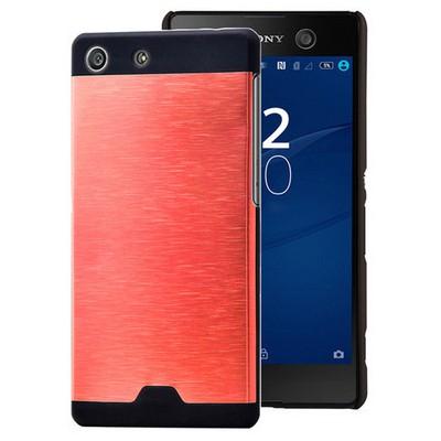 Microsonic Sony Xperia M5 Kılıf Hybrid Metal Kırmızı Cep Telefonu Kılıfı