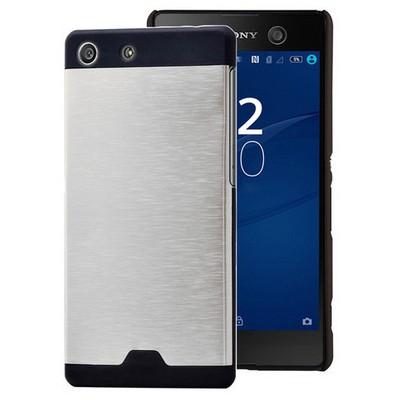 Microsonic Sony Xperia M5 Kılıf Hybrid Metal Gümüş Cep Telefonu Kılıfı