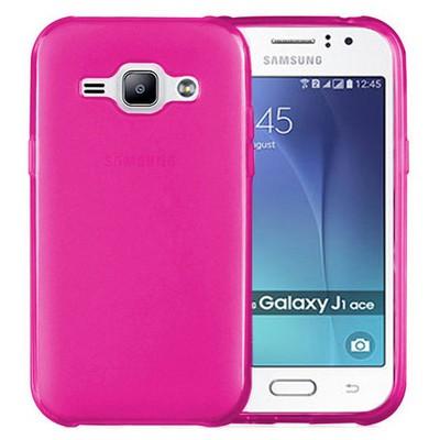 Microsonic Samsung Galaxy J1 Ace Kılıf Transparent Soft Pembe Cep Telefonu Kılıfı