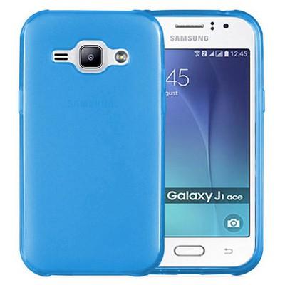 Microsonic Samsung Galaxy J1 Ace Kılıf Transparent Soft Mavi Cep Telefonu Kılıfı
