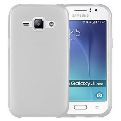 Microsonic Samsung Galaxy J1 Ace Kılıf Transparent Soft Beyaz Cep Telefonu Kılıfı