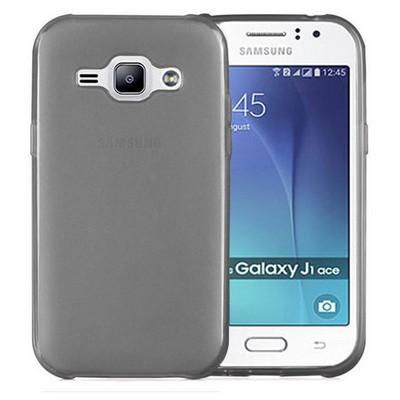Microsonic Samsung Galaxy J1 Ace Kılıf Transparent Soft Siyah Cep Telefonu Kılıfı