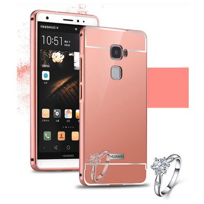 Microsonic Huawei Ascend Mate S Kılıf Luxury Mirror Rose Gold Cep Telefonu Kılıfı