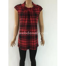 Trndy Trendy Degaje Yaka Hamile Tunik Kırmızı Xl Pantolon, Şort, Tayt