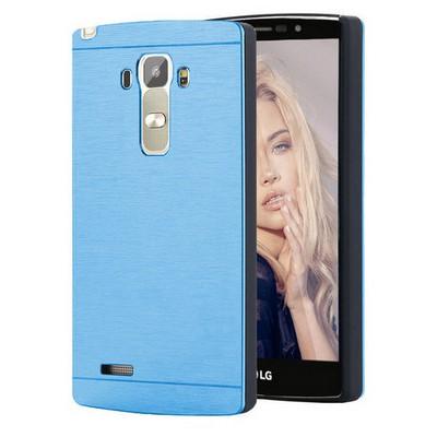 Microsonic Lg G4 Stylus Kılıf Hybrid Metal Mavi Cep Telefonu Kılıfı