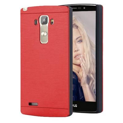 Microsonic Lg G4 Stylus Kılıf Hybrid Metal Kırmızı Cep Telefonu Kılıfı