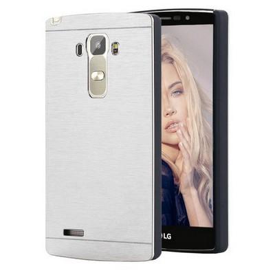 Microsonic Lg G4 Stylus Kılıf Hybrid Metal Gümüş Cep Telefonu Kılıfı