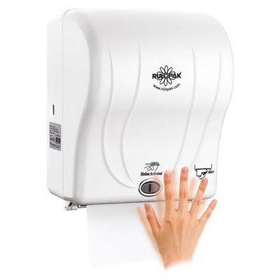Rulopak Sensörlü Kağıt Havlu Makinesi Beyaz 21 Cm Model R-1301 Kağıt Havlu Dispenseri