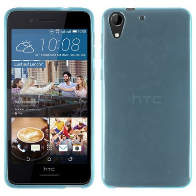 Microsonic Htc Desire 728g Kılıf Transparent Soft Mavi Cep Telefonu Kılıfı
