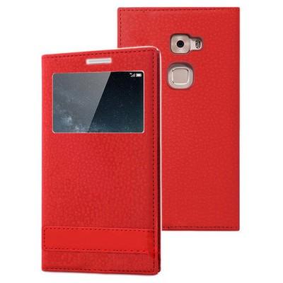 Microsonic Huawei Mate S Kılıf Gizli Mıknatıslı View Delux Kırmızı Cep Telefonu Kılıfı