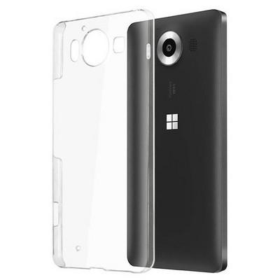 Microsonic Microsoft Lumia 950 Kılıf Kristal Şeffaf Cep Telefonu Kılıfı