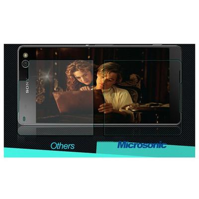 Microsonic Sony Xperia C5 Ultra Temperli Cam Ekran Koruyucu Ön + Arka Ekran Koruyucu Film