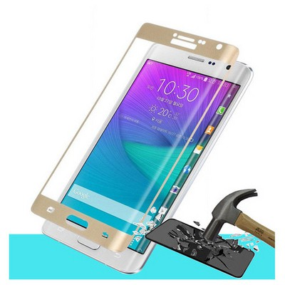 Microsonic Samsung Galaxy Note Edge 3d Kavisli Temperli Cam Ekran Koruyucu Kırılmaz Film Gold Ekran Koruyucu Film