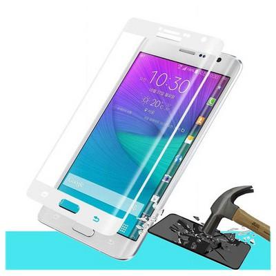 Microsonic Samsung Galaxy Note Edge 3d Kavisli Temperli Cam Ekran Koruyucu Kırılmaz Film Beyaz Ekran Koruyucu Film