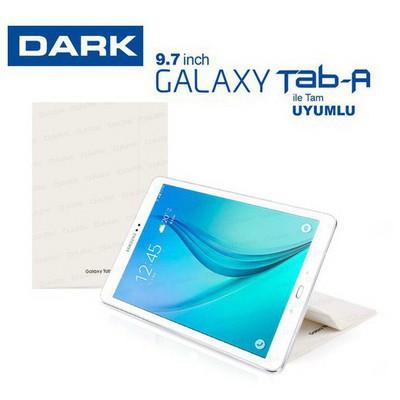 "Dark DK-AC-SMK9762WH SAMSUNG TAB A T550/T555 9.7"" BOOK COVER - Beyaz Tablet Kılıfı"