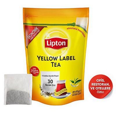 Lipton Yellow Label Demlik Poşet Çay Jumbo Boy 40 Adet 20 Gr