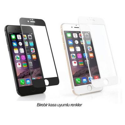 Microsonic Iphone 6s Plus 3d Kavisli Temperli Cam Full Ekran Koruyucu Kırılmaz Film Beyaz Ekran Koruyucu Film