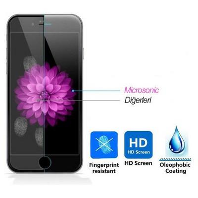Microsonic Iphone 6s 3d Kavisli Temperli Cam Full Ekran Koruyucu Kırılmaz Film Beyaz Ekran Koruyucu Film
