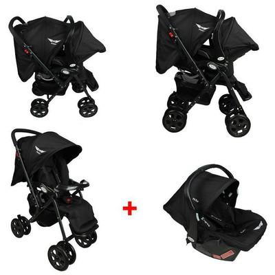 Mcrae Mc 5010t Royalty Travel Alüminyum Hafif Bebek Arabası - Siyah Travel Sistem Bebek Arabası