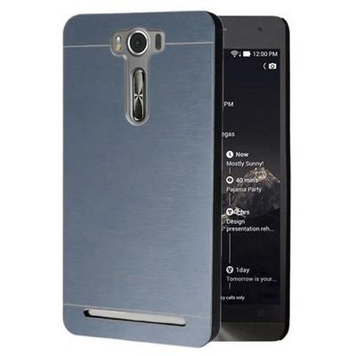 Microsonic Asus Zenfone Selfie Kılıf Hybrid Metal Mavi Cep Telefonu Kılıfı