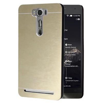 Microsonic Asus Zenfone Selfie Kılıf Hybrid Metal Gold Cep Telefonu Kılıfı