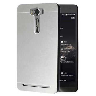 Microsonic Asus Zenfone Selfie Kılıf Hybrid Metal Gümüş Cep Telefonu Kılıfı