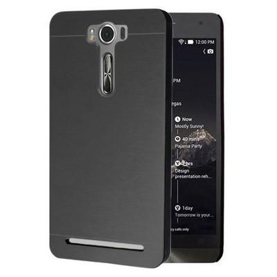 Microsonic Asus Zenfone Selfie Kılıf Hybrid Metal Siyah Cep Telefonu Kılıfı