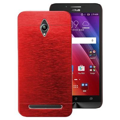 Microsonic Asus Zenfone Go Kılıf Hybrid Metal Kırmızı Cep Telefonu Kılıfı
