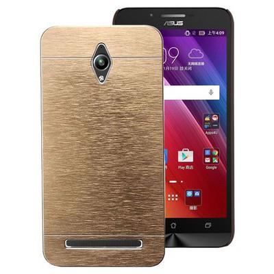 Microsonic Asus Zenfone Go Kılıf Hybrid Metal Gold Cep Telefonu Kılıfı