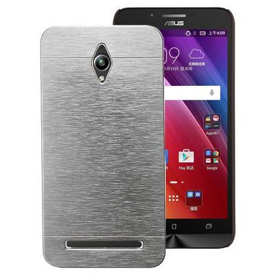 Microsonic Asus Zenfone Go Kılıf Hybrid Metal Gümüş Cep Telefonu Kılıfı