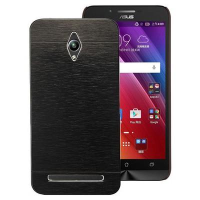 Microsonic Asus Zenfone Go Kılıf Hybrid Metal Siyah Cep Telefonu Kılıfı