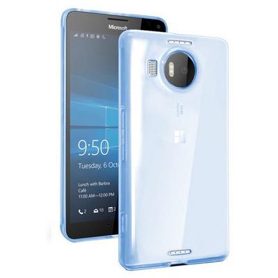 Microsonic Miscrosoft Lumia 950 Xl Kılıf Transparent Soft Mavi Cep Telefonu Kılıfı
