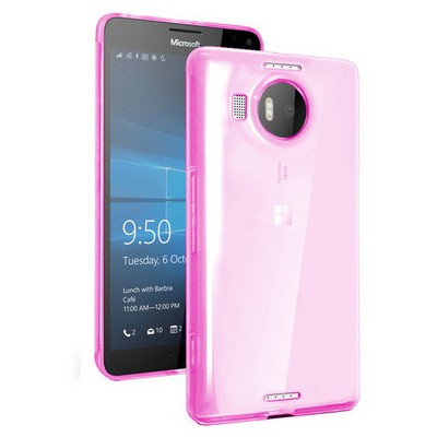 Microsonic Miscrosoft Lumia 950 Xl Kılıf Transparent Soft Pembe Cep Telefonu Kılıfı
