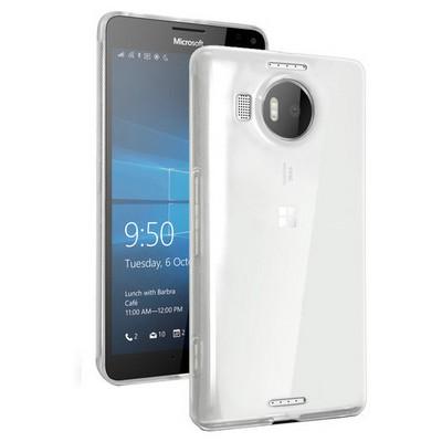 Microsonic Miscrosoft Lumia 950 Xl Kılıf Transparent Soft Beyaz Cep Telefonu Kılıfı