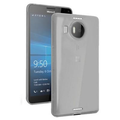 Microsonic Miscrosoft Lumia 950 Xl Kılıf Transparent Soft Siyah Cep Telefonu Kılıfı