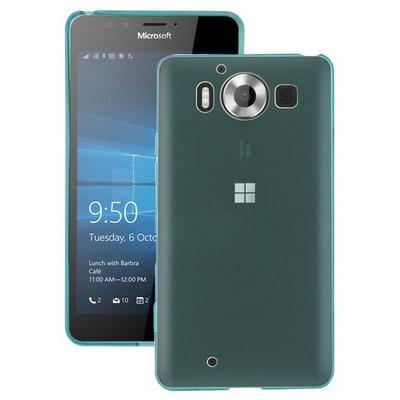 Microsonic Miscrosoft Lumia 950 Kılıf Transparent Soft Mavi Cep Telefonu Kılıfı
